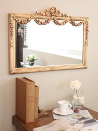 리미니 플라워 사각 벽거울(가로형)