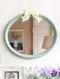 리본 베이즐 타원 벽거울