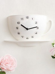 플롭스 커피잔 벽시계